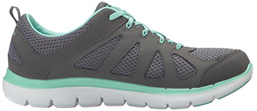 12761 femmes Skechers Green Charcoal Baskets vUYzdq