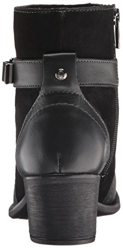 Hush Puppies Donna Con Affetto Nellie Western Boot In Pelle Nera / Suede