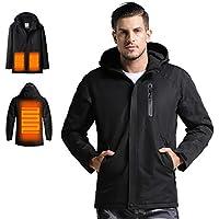 Venustas Men's Heated Jacket with Hood (Black)
