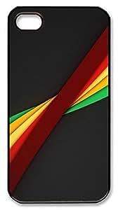 iPhone 4S CaseNot A Classic Rainbow PC Custom iPhone 4/4S Case Cover Black