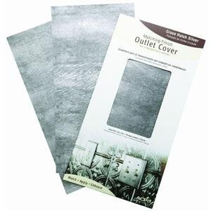 ACP D48-21 Crosshatch Silver Outlet Cover