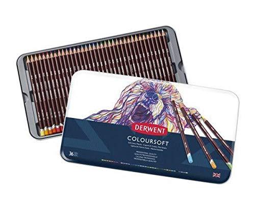 Crayons Artistic Coloursoft Set (36ks), Derwent, Art Supplies