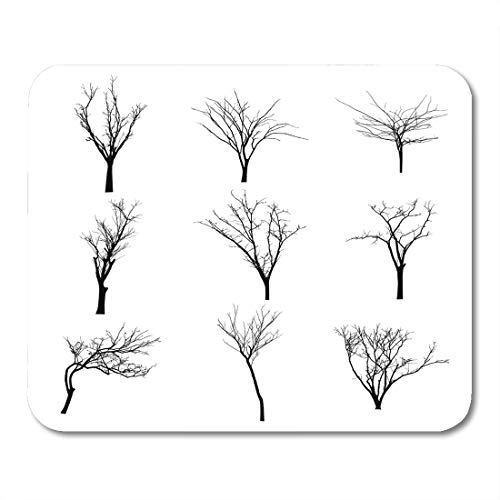 Boszina Mouse Pads Halloween Branch Black Silhouette of Bare Tree Shadow Winter Mouse Pad for notebooks,Desktop Computers mats 9.5