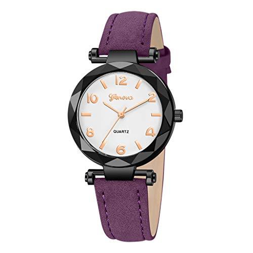 Londony✡Women's Watches Leather Rhinestone Inlaid Quartz Jelly