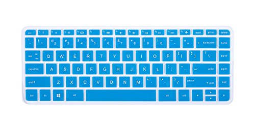 Keyboard Protector Cover for HP Stream 14 Inch Laptop | HP Stream 14-ax Series | 14 inch HP Pavilion 14-ab 14-ac 14-ad 14-al 14-an Series Protective Skin, Blue