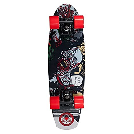 Amazon.com : Aluminati Skateboards A-Frame Bitey Skateboard, Red ...