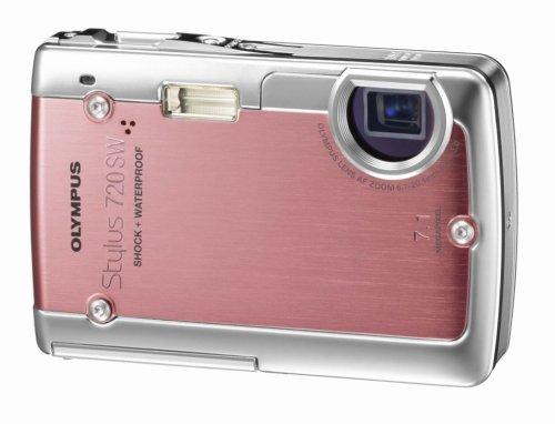Olympus Stylus 720SW 7.1MP Ultra Slim Digital Camera with 3x Optical Zoom (Pink)