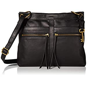Fossil Women's Caitlyn Leather Crossbody Purse Handbag