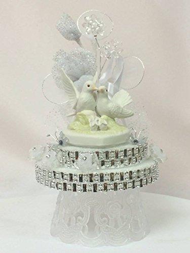 Amazon.com: Kissing Doves Wedding Cake Topper Centerpiece Decoration ...