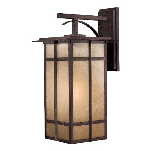 Minka Outdoor 71193-357-PL, Delancy Outdoor Wall Sconce Lighting, 13 Watts Fluorescent, Iron - 357 Pl Wall