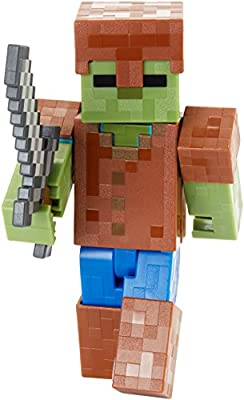 "Minecraft Zombie In Armor Basic Figure, 5"" from Mattel"