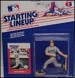 (Jose Canseco Action Figure in Oakland A's Uniform - 1988 Starting Lineup Sports Super Star Collectible)