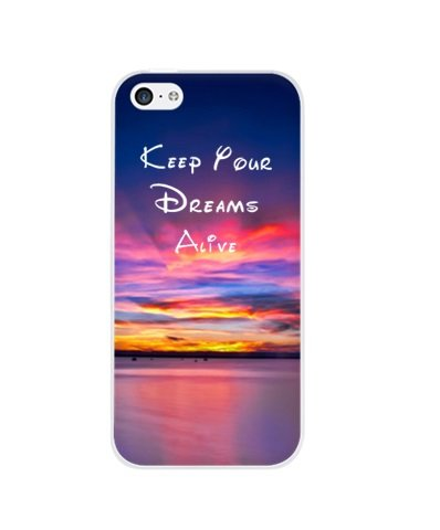 Keep Your Dreams Alive Quote snap on Case Cover for Apple iPhone 4 4S 4G