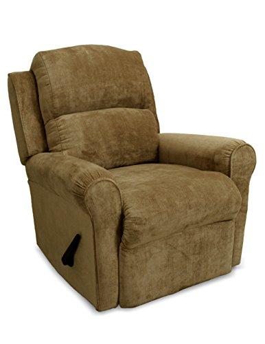 Franklin Serenity Manual Wall Proximity Lay Flat Recliner, Pecan Franklin Recliner Chairs
