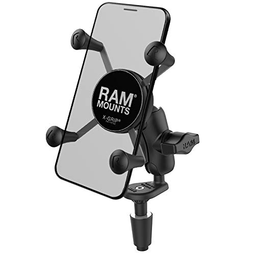 RAM X-Grip Phone Holder with Motorcycle Fork Stem Base