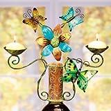 Decobreeze Home Holiday Decoration Capiz Shell Candelabra Bottle Topper-Butterflies