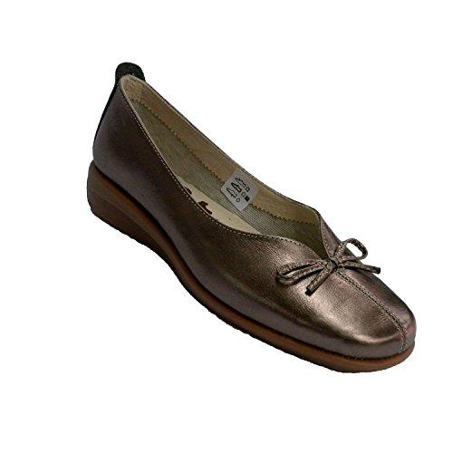 Type de cale de chaussure femme manoletina faible boucle douverture du cou de pied 48 Hours en métallique