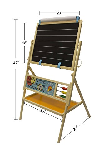 Little Partners My First Art Easel with Whiteboard and Chalkboard - Kids Educational Learning
