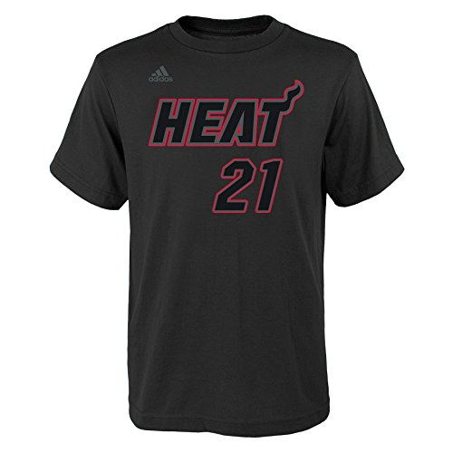 fan products of NBA Miami Heat Boys Youth Hyper Name and Number Short Sleeve Tee, Medium (10-12), Black