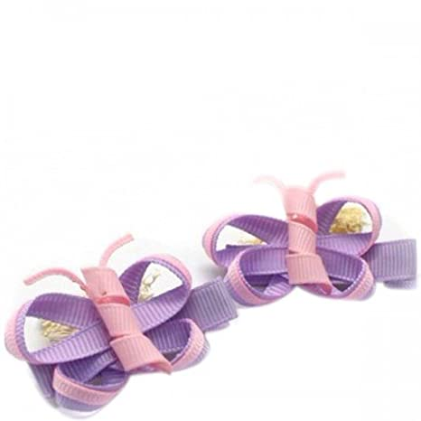 NeedyBee Purple Butterfly Hair Clip Hair Accessories for Baby Girls at amazon