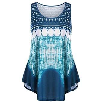 Blusa de Verano con Pliegues para Mujer - Azul - 2X-Large: Amazon ...