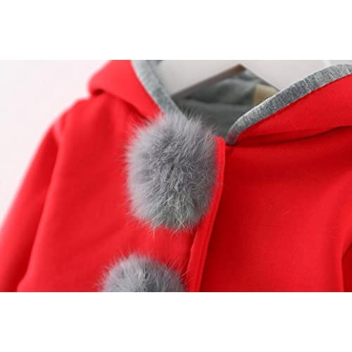 686145ae0 WARMSHOP Infant Girls Autumn Winter Warm Coat Jacket Hooded Long Sleeve  Thick Warm Clothes