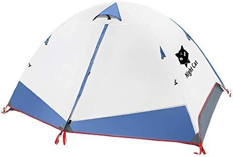 Night Cat Tienda de mochilero Impermeable Ligero 1 2 Hombre Persona Fácil de configurar Tienda Individual para Senderismo Camping