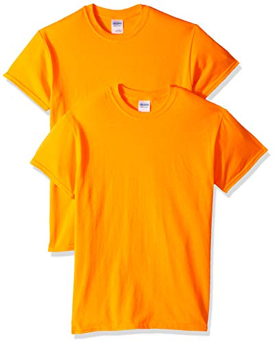 Gildan Men's G2000 Ultra Cotton Adult T-Shirt, 2-Pack, Safety Orange, 2X-Large