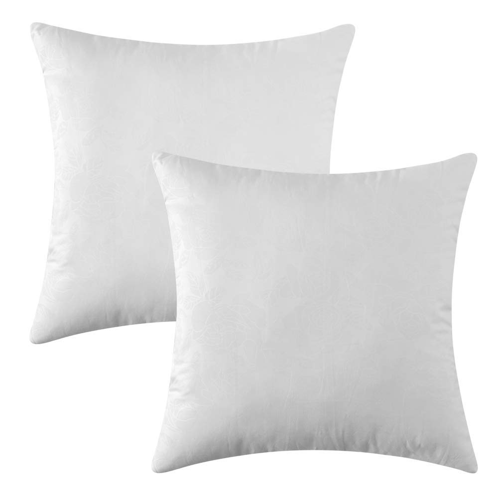 Super Miulee Pack Of 2 Decorative Pillow Insert Polyester Cotton Indoor White Adjustable Throw Pillows For Sofa Bed 18X18 45X45 Cm Uwap Interior Chair Design Uwaporg