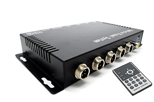 BeElion 4Ch Color Video Quad Splitter Multiplexer Processor Switcher for CCTV Vehicle Security Camera,9-36Vdc (Color Video Quad)