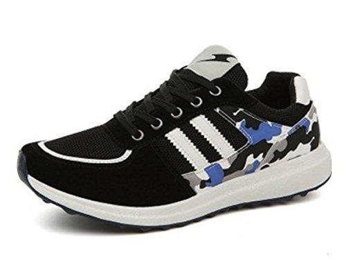 Bininbox Casual Heren Sportschoenen Ademend Atletisch Sportboard Schoenen Comfortabel Hardlopen Hard Leer Zwart