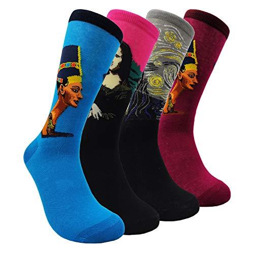 Womens Art Dress Socks Van Gogh - Novelty Patterned Fun Socks (Egypt - 4