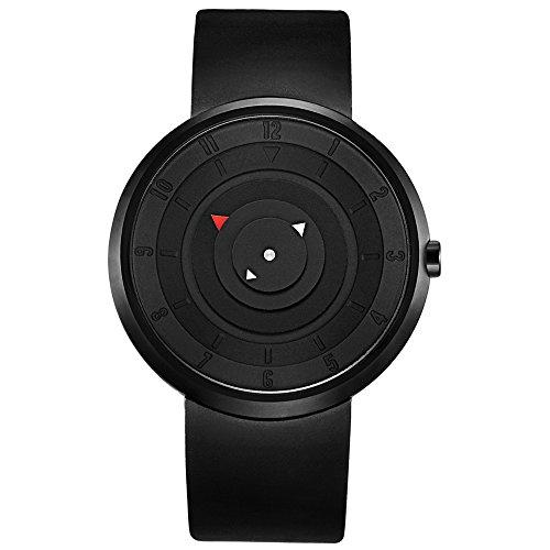 BREAK Creative Fashion Watches Waterproof Simple Unisex Men Women Rubber Strap Analog Unique Wristwatch