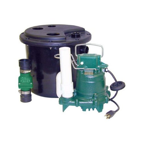 - Zoeller 105-0001 Sump Pump, 12.50 x 14.50 x 14.50 inches, 19 Pound