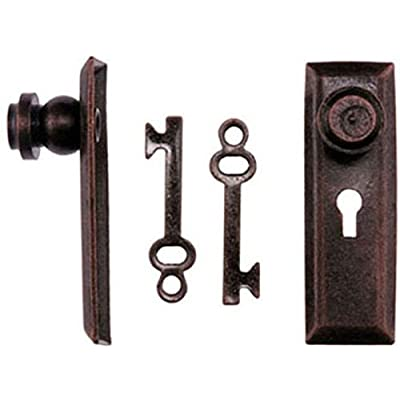 Handley House Dollhouse Miniature Oil Rubbed Bronze Finish Door Knob w/Key Plate: Toys & Games
