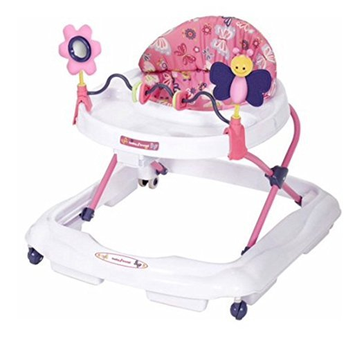 Adjustable Baby Trend Walker, Emily in Multi-directional Wheels. Easy to set up, clean and fold, 12 - 24 Months of age.