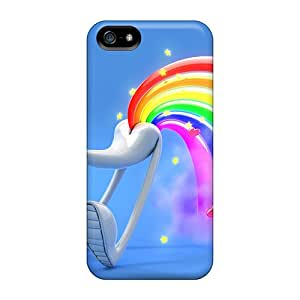 New Design Shatterproof ZozQXOd3359KvXqD Case For Iphone 5/5s (rainbow Fart)