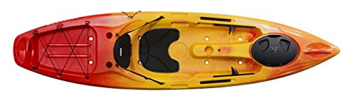 Perception R15 Pescadors 100 Kayak, Red/Yellow