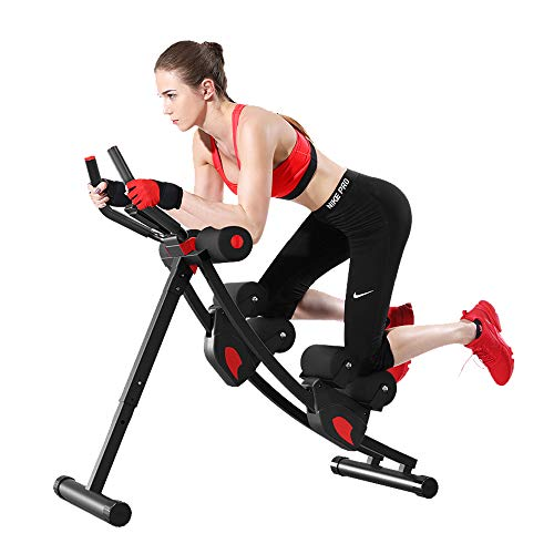 Home Ab Trainer with LCD Display Core & Abdominal Trainers Workout Machine Height Adjustable