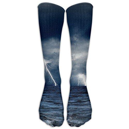 Storm Lightning Men Women Casual Socks 3D Print Colorful Patterned Cool Socks Compression Socks For Nursing