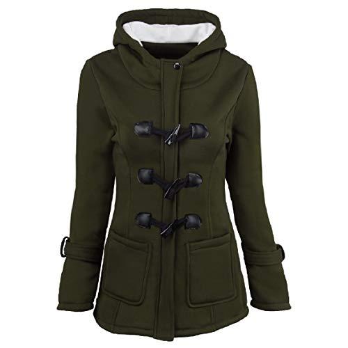 donne Plus In Caldo Tenere Incappucciati Cappotto Howme Verde Giù size Inverno Outwear BTdqWXwxw