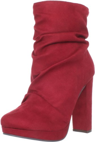 Michael Antonio Women's Malone Ankle Boot,Red,5 M US