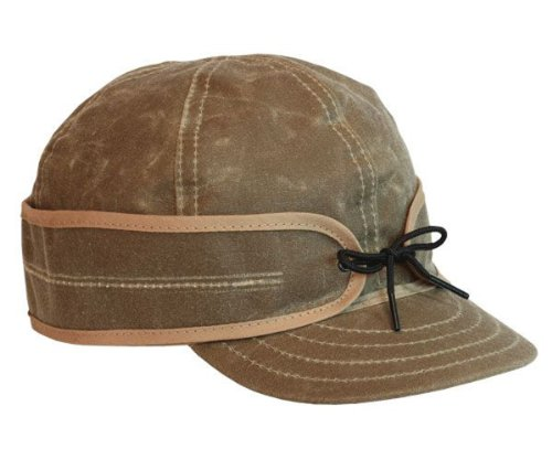 Stormy Kromer Men's The Waxed Cotton Cap, Field Tan, 7 (Cotton Midweight Cap)