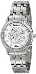 Armitron Women's 75/5159MPSV Swarovski Crystal Accented Silver-Tone Bracelet Watch