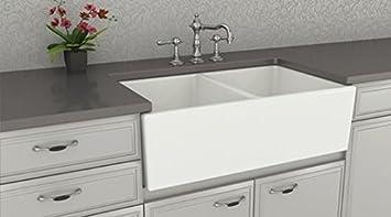 farmhouse kitchen sink white u2013 double bowl fireclay with apron front u2013 undermount or overmount design