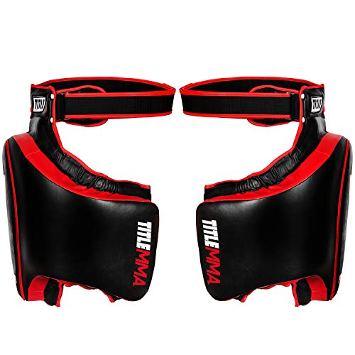Title Gel Thai Style Thigh Pads, Black/Red