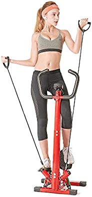 Valenfit Stair Stepper Exercise Equipment Adjustable Stepping Machine with Resistance Bands and Carpet/Handleb