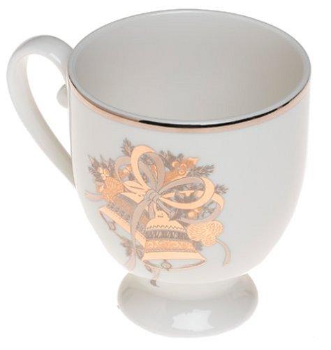 - Mikasa Cameo Holly Bells Footed Mugs, Set of 4