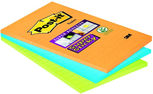 Post-it Notes 125 mm x 200 mm Super Sticky Notes Pad 101 x 152 mm (Sticky Post Super Recycled)
