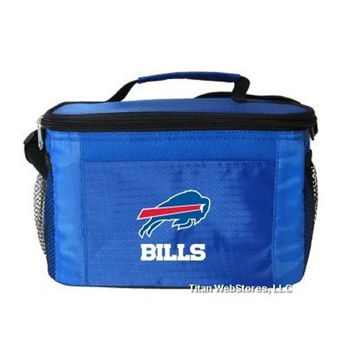 NFL Football Tailgating 6 Pack Cooler - Lunch Box Cooler (Bills)